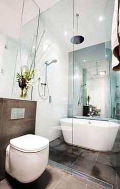 Bathroom with wet area
