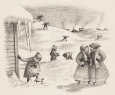 Garth Williams Little House Illustrations | 78173: GARTH WILLIAMS (American, 1912-1996) The Long Wi : Lot 78173