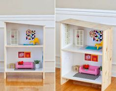 mommo design: IKEA HACKS - Modern dollhouse from 2 Rast nightstands