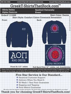 Alpha Omicron Pi. Love this design!