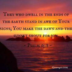 Psalms 65:8