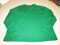 Polo by Ralph Lauren Men's long sleeve t shirt L cotton green GUC@ #PolobyRalphLauren #tshirt