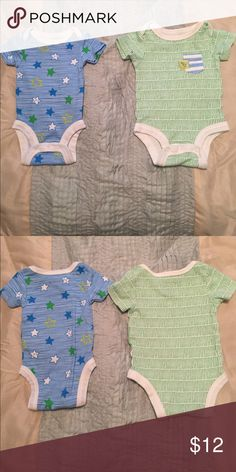 Two organic newborn onesies Gently worn like new condition Lamaze One Pieces Bodysuits