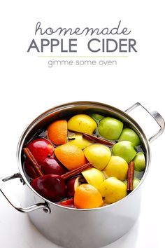 Did you know that homemade apple cider is easy to make from scratch?  This all-natural version tastes delicious, can be made with your desired sweetener, and will make your home smell amazing! | gimmesomeoven.com