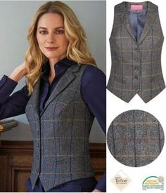 Vest Outfits, Chic Outfits, Fashion Outfits, Professor Style, Tweed, Gilet Costume, Suits For Women, Clothes For Women, Lawyer Fashion