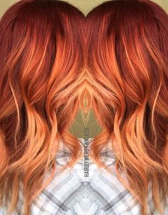 Fall hair color for brunettes balayage caramel ombre elegant red hair clipa Ginger Hair Color, Ombre Hair Color, Magenta Hair Colors, Hair Styles 2016, Long Hair Styles, Fall Hair Color For Brunettes, Copper Hair, Copper Ombre, Copper Bayalage