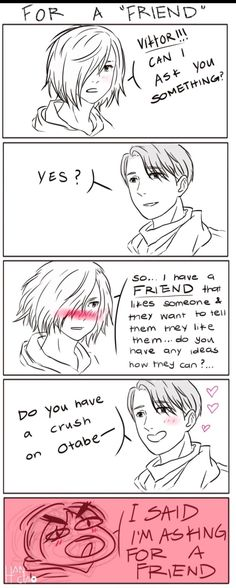 Yurio and Victor (Yuri And Otabek is a gr8 ship man)