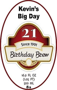 Personalized Beer Bottle Labels
