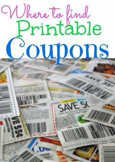 Free Printable Coupons gomommacoupons.com provides the best grocery coupons & free coupons for groceries
