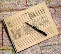Great idea for keeping a journal of your trips, campgrounds, things to see, track your fuel, maintenance, mileage, etc......   The Camping Journal - RV Log Book
