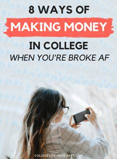Broke students can always use more easy ways to make money in college. No job needed for these creative wallet padding ideas! College Packing Tips, College Fun, College Life, Uni Life, College Planning, College Survival, Dorm Life, College Hacks, Way To Make Money