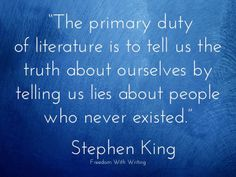 Writing #advice from #author Stephen King. Are your characters based on people you know?