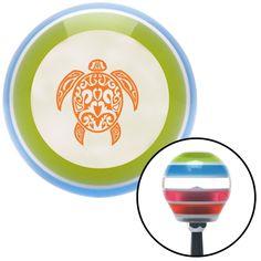 Orange Turtle Stripe Shift Knob with M16 x 15 Insert