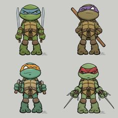 Chibi Characters, Comic Book Characters, Comic Books, Ninja Turtles Art, Teenage Mutant Ninja Turtles, Cartoon Drawings, Cartoon Art, Ninja Turtle Tattoos, Dibujos Anime Chibi