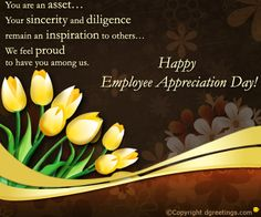 Dgreetings - Show your appreciation for an employee with this card. Appreciation Cards, Employee Appreciation, Happy Employees, Notes, Sayings, Diy, Ideas, Report Cards, Lyrics