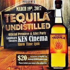 See Tequila Undistilled, featuring Embajador Tequila, tomorrow!  .  .    #tequila #tequilacocktail #tequilablanco #tequilatime #tequilatequila #tequilacocktails #TequilaDrink #tequilatasting #tequilalover #2tequilasporfavor #betequila #butwithtequila #catatequila #celebratewithtequila #doingtheworkofTequila    #Regram via @tequilaembajador