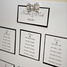 Ideas For Wedding Table Black Seating Charts Gift Table Wedding, Wedding Reception Seating, Seating Chart Wedding, Wedding Cards, Diy Wedding, Wedding Ideas, Casino Wedding, Dream Wedding, Wedding Tables
