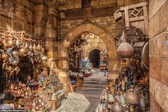 This area in Islamic Cairo is Egypt's most famous souk (market). Its many streets are divi...