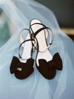 Black bow stilettos: http://www.stylemepretty.com/2017/03/21/texas-winter-garden-wedding/ Photography: Michelle Boyd - http://www.michelleboydphotography.com/