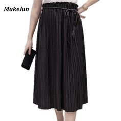 """http://babyclothes.fashiongarments.biz/  Women Long Skirt 2017 Women Vintage Summer Casual High Waist Sexy Elastic Midi Girls Elegant Maxi Tulle School Pleated Skirts, http://babyclothes.fashiongarments.biz/products/women-long-skirt-2017-women-vintage-summer-casual-high-waist-sexy-elastic-midi-girls-elegant-maxi-tulle-school-pleated-skirts/,  ,                                                    SizeWaistLengthHipOne Size60-115cm/23.6""""-45.3""""75cm/29.5"""" 70-120cm/27.6""""-47.2""""NOTE: 1. The size may…"""