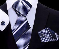 Mamba Series Tie Set XL | Men's XL Ties | Blue/Black | Silk | Twenty Dollar Tie Tie Set, Black Silk, Pocket Square, Mens Xl, Silk Ties, Blue, Color, Pocket Squares, Colour