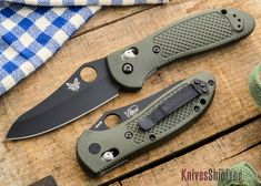 Benchmade Knives: 550BKHGOD - Griptilian - Black Blade - OD Scales