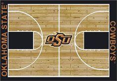 Oklahoma State Cowboys Home Court Area Rug