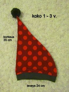 Maikin kontti: Tonttulakkien ompelupuuhissa (ohje) Toddler Clothes Diy, Sewing Tutorials, Sewing Patterns, Sewing Ideas, Xmas, Christmas, Baby Hats, Projects To Try, Diy Crafts