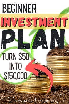 Investing doesn't have to be scary. If you are new to investing, follow this step by step plan to start with just $50!  #invest #investments #investing #investingtips Show Me The Money, How To Get Money, Budgeting Finances, Budgeting Tips, Money Saving Meals, Money Savers, Minimalist Living Tips, Living On A Budget, Frugal Living