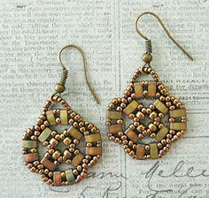 Linda's Crafty Inspirations: Video Tutorial: Earrings with Half Tilas