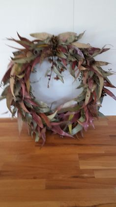 Christmas Wreath - dried native leafs and gum nuts
