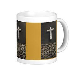 Leopard red cross cup mug