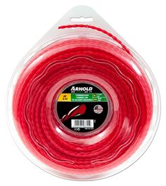 Arnold Twisted Trimmer Line 3.3 mm x 3.14 120 Feet, Round, Red, 1082/U5/3337