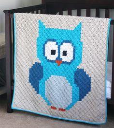 Crochet For Children: Baby Owl C2C Blanket - Free Pattern