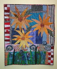 Wendy Gatzke's Sunflower II Quilt.  I love sunflowers!