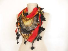 Christmas gift Cotton scarfTringle Turkish Yemeni by asuhan, $15.00