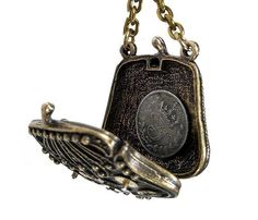 Steampunk Necklace Vintage Brass Change Purse ANTIQUE COIN Watch Parts Statement Necklace Locket BEAUTY - Steampunk Jewelry by edmdesigns. $95.00, via Etsy.