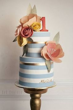 """First Birthday - Cake decoration by """"Kek Couture"""""""
