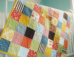 Simple and traditional square quilt. Love it.