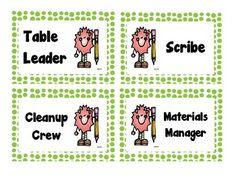 FREE Printable: Table Job Labels (Green Polka Dot) $0.00