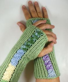 Knit Fingerless Gloves Knit Arm Warmer by Nothingbutstring on Etsy, $27.50