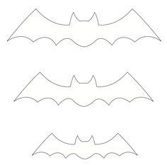 Moldes de Morcegos para Halloween - Figuras para recortar e decorar - Brinquedos de Papel