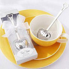 """""""Tea time"""" hart roestvrij staal thee-ei in elegante witte geschenkdoos, w16.5cm xl5cm 1508307 2017 – €1.66"""