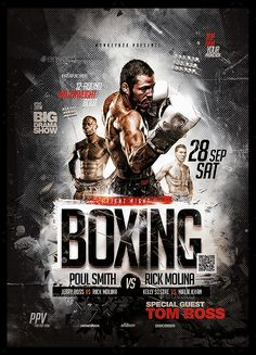Buy Boxing Flyers Bundle by MonkeyBOX on GraphicRiver. Boxing Flyers Bundle Easy-To-Edit Event Poster Design, Creative Poster Design, Flyer Design, Sports Graphic Design, Graphic Design Posters, Boxe Fight, Boxing Posters, Sports Posters, Corporate Event Design