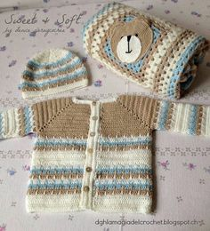 Baby boy crochet vest love ideas for 2019 Crochet For Boys, Knitting For Kids, Baby Knitting, Crochet Baby Sweaters, Crochet Baby Clothes, Baby Pullover, Baby Cardigan, Crochet Crafts, Crochet Projects