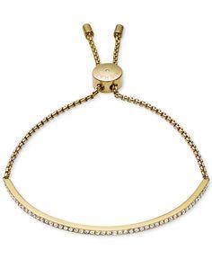Michael Kors Clear Bar Slide Bracelet