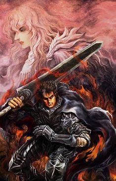 Tags: Anime, Fire, Berserk (Kentaro Miura), Griffith, Guts, The Dragonslayer, Missing Eye