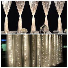 FEFE® Crystal LED Lights 9.8ft*9.8ft 304 LEDs String Lights Decorating Holiday,Party, Wedding Curtain Lights