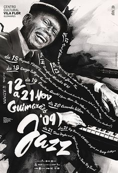 While looking for the WaterFront singer poster, I found these awesome Jazz music poster. It's series of posters for Guimaraes Jazz 2009 eve. Poster Jazz, Flyer Poster, Festival Jazz, Festival Posters, Design Graphique, Art Graphique, Graphic Design Typography, Graphic Design Illustration, Graphic Posters
