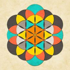 Sacred Geometry: The Flower of life #2 Art Print